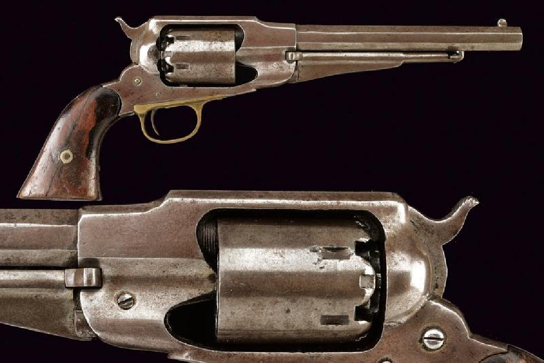 An 1858 model Remington percussion revolver