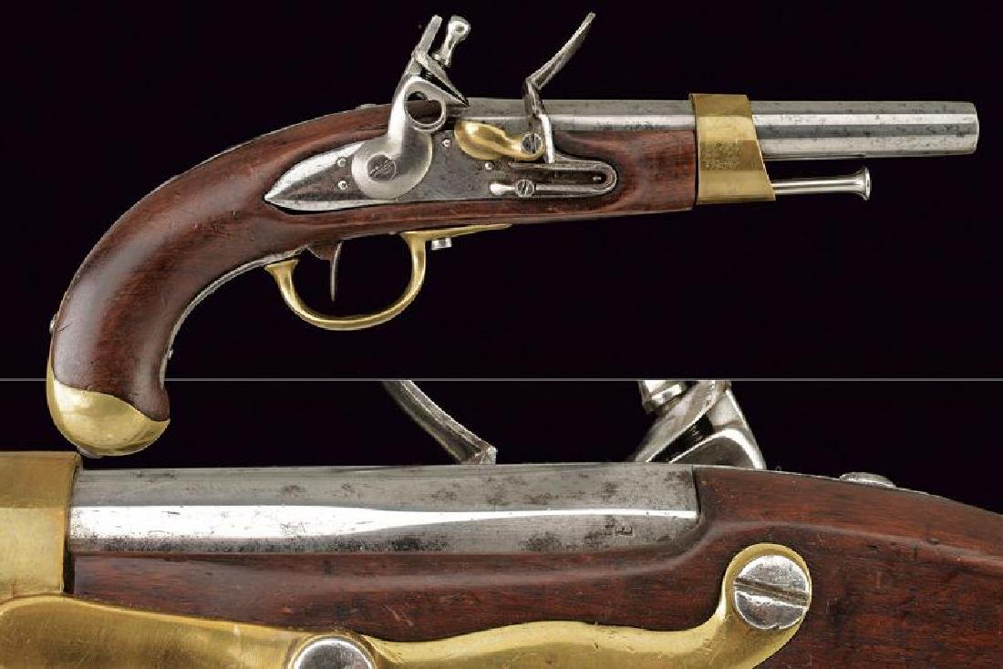 An AN XIII type flintlock pistol