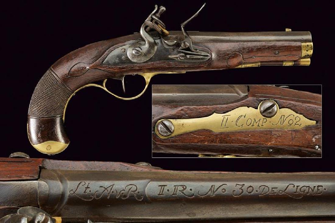 An officer's flintlock pistol