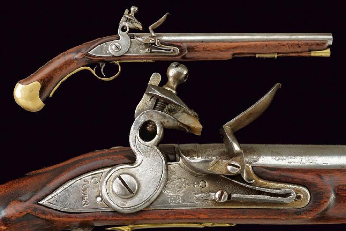 A 'Long Sea Service' flintlock pistol