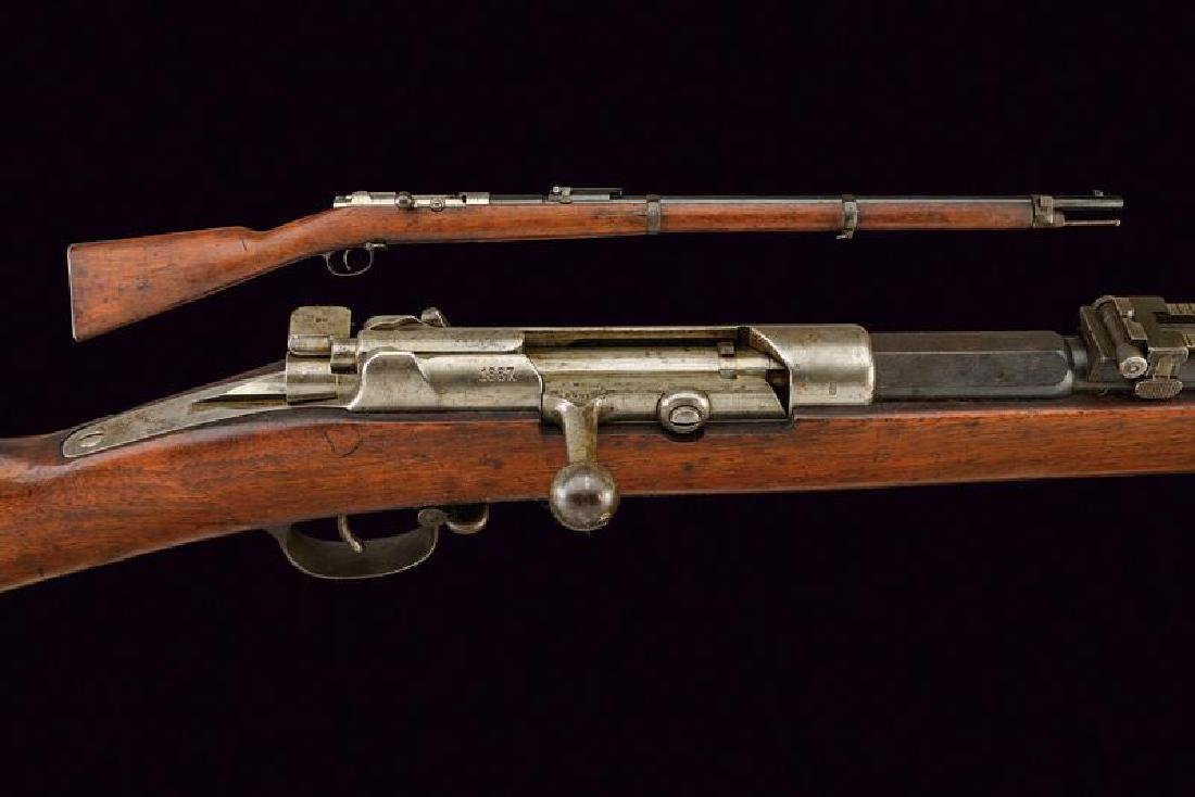 A Mauser Model 71/84 bolt action rifle