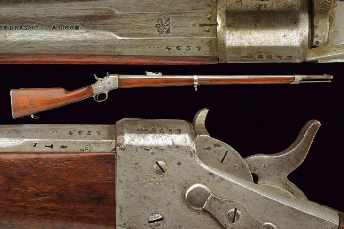 An 1868 model Army Remington Nagant rifle