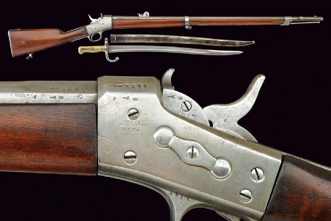 A rare Remington Nagant rifle with bayonet