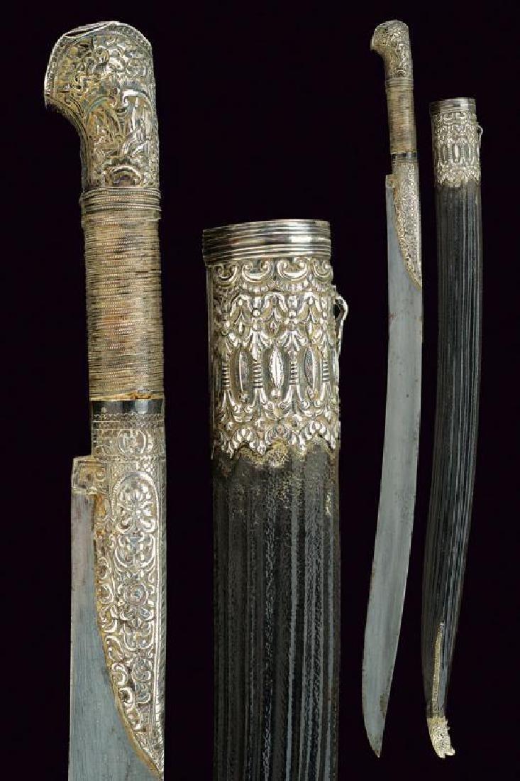 A fine silver mounted yatagan