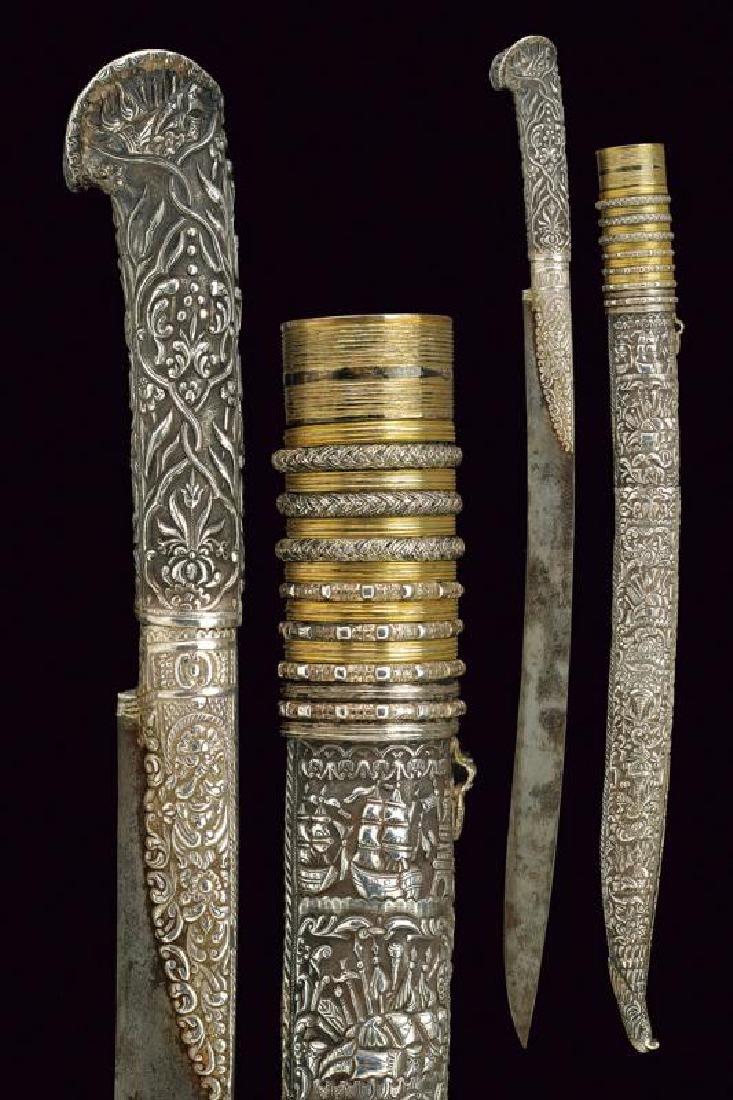 A beautiful silver mounted yatagan