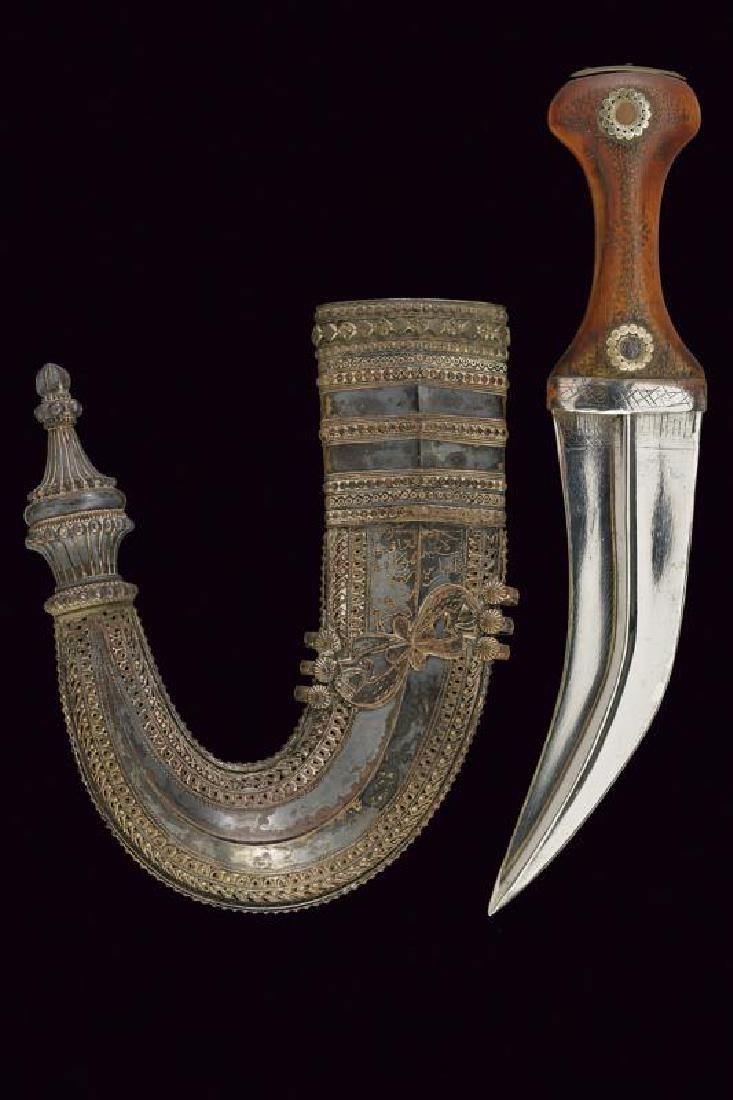 A jambiya with nice silver scabbard
