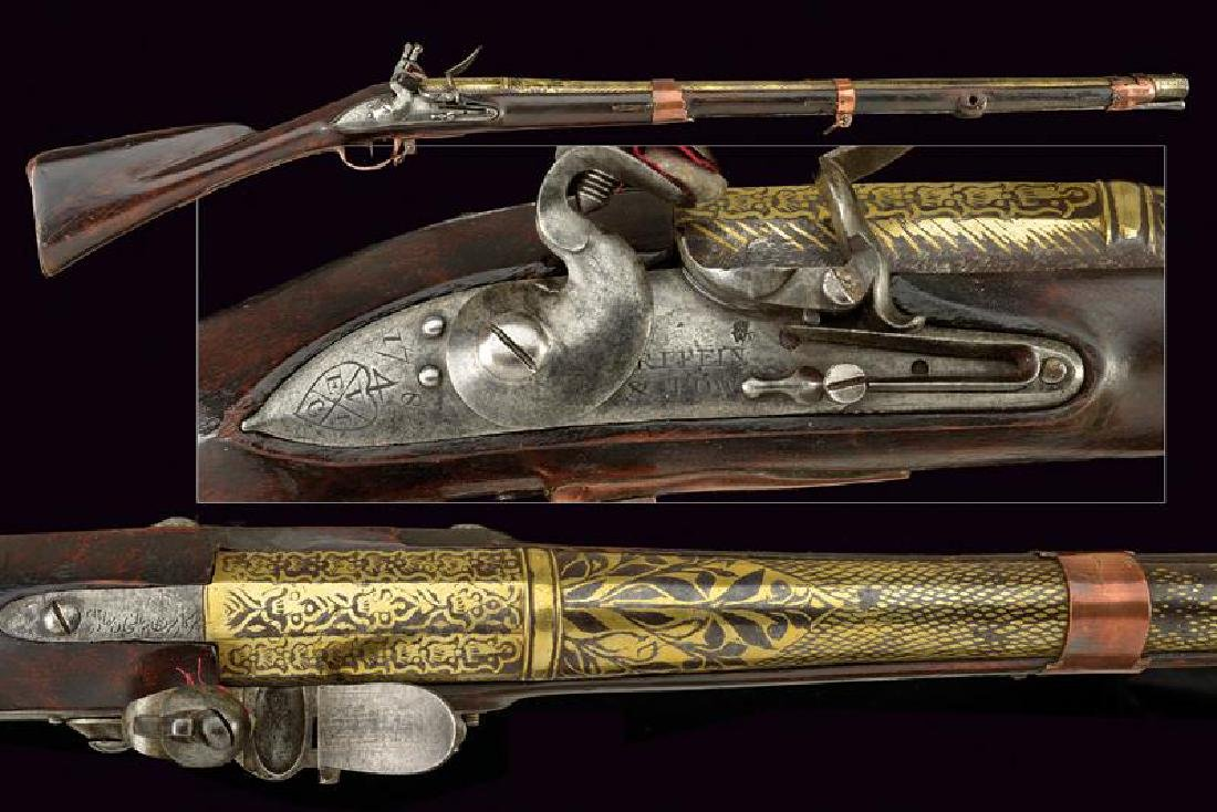 An interesting musket with gilded barrel for the East