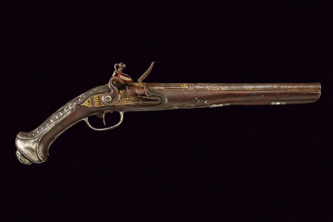 A fine flintlock pistol - 6