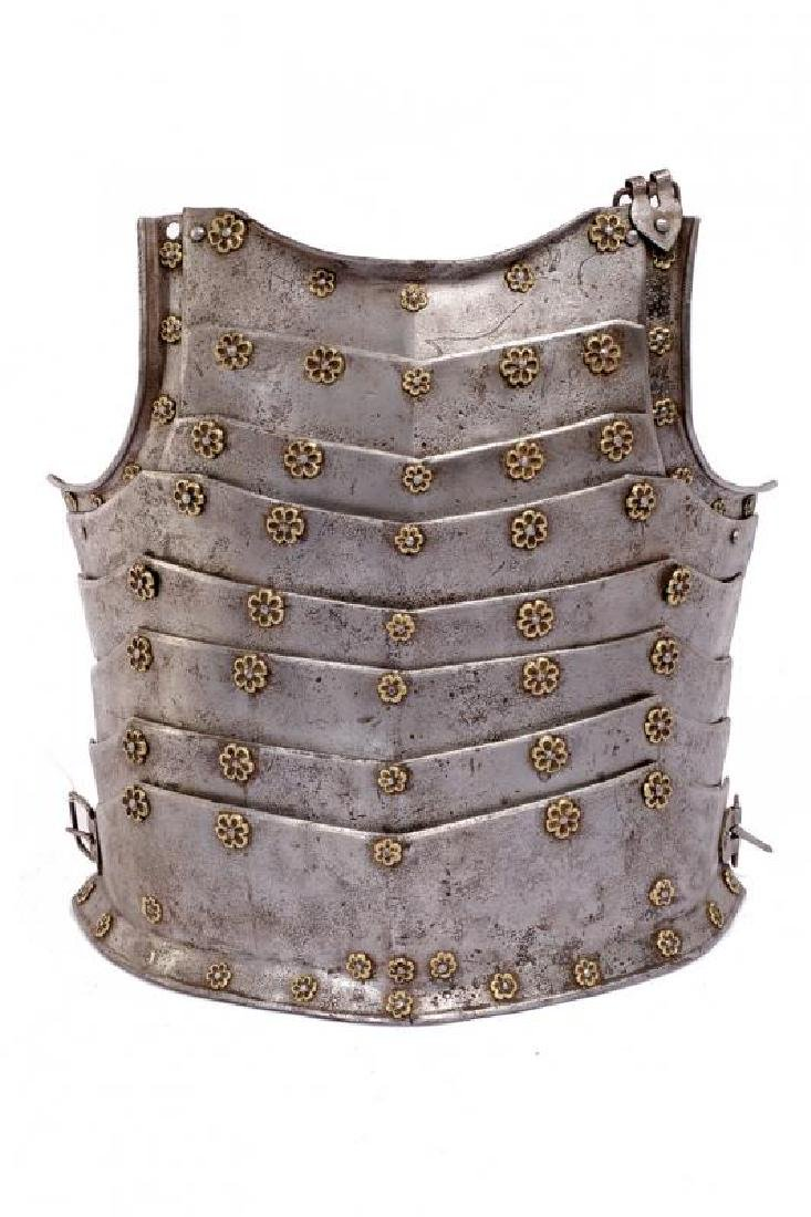 A rare articulated breast-plate