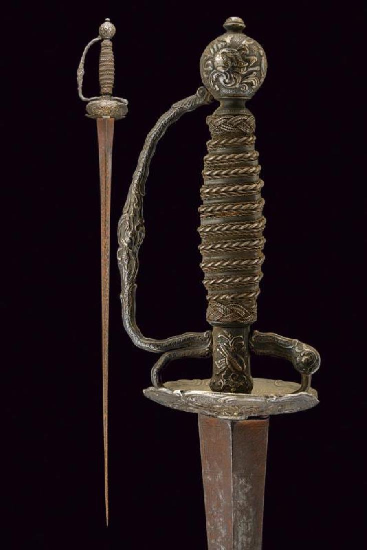 A silver mounted small sword