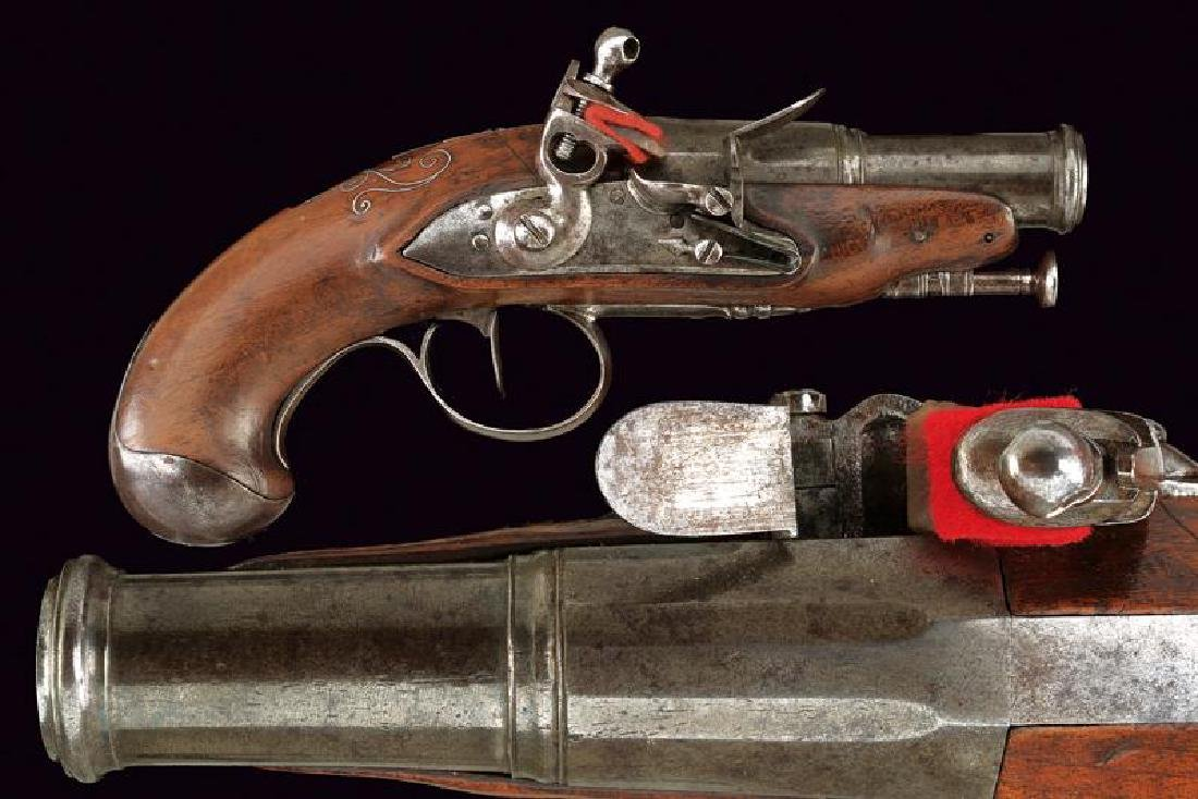 A flintlock traveling pistol