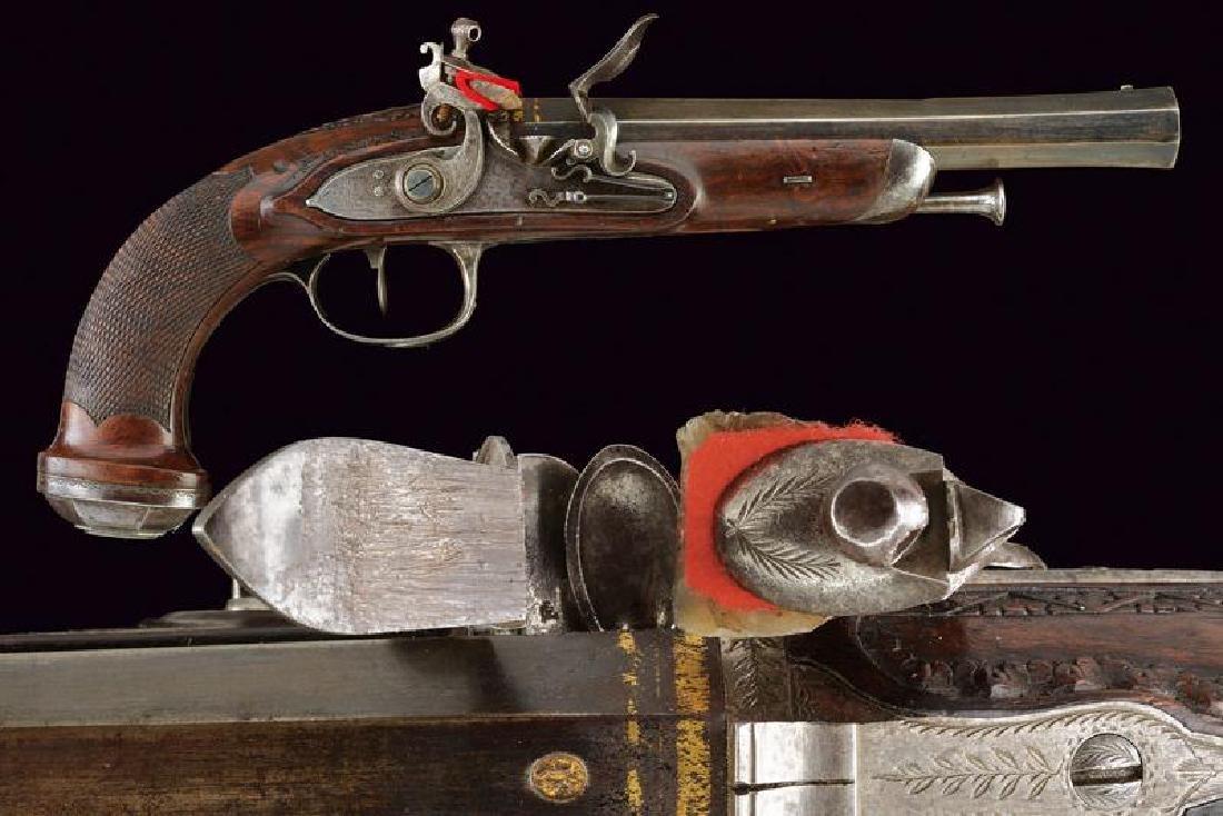 A First Empire officer's flintlock pistol