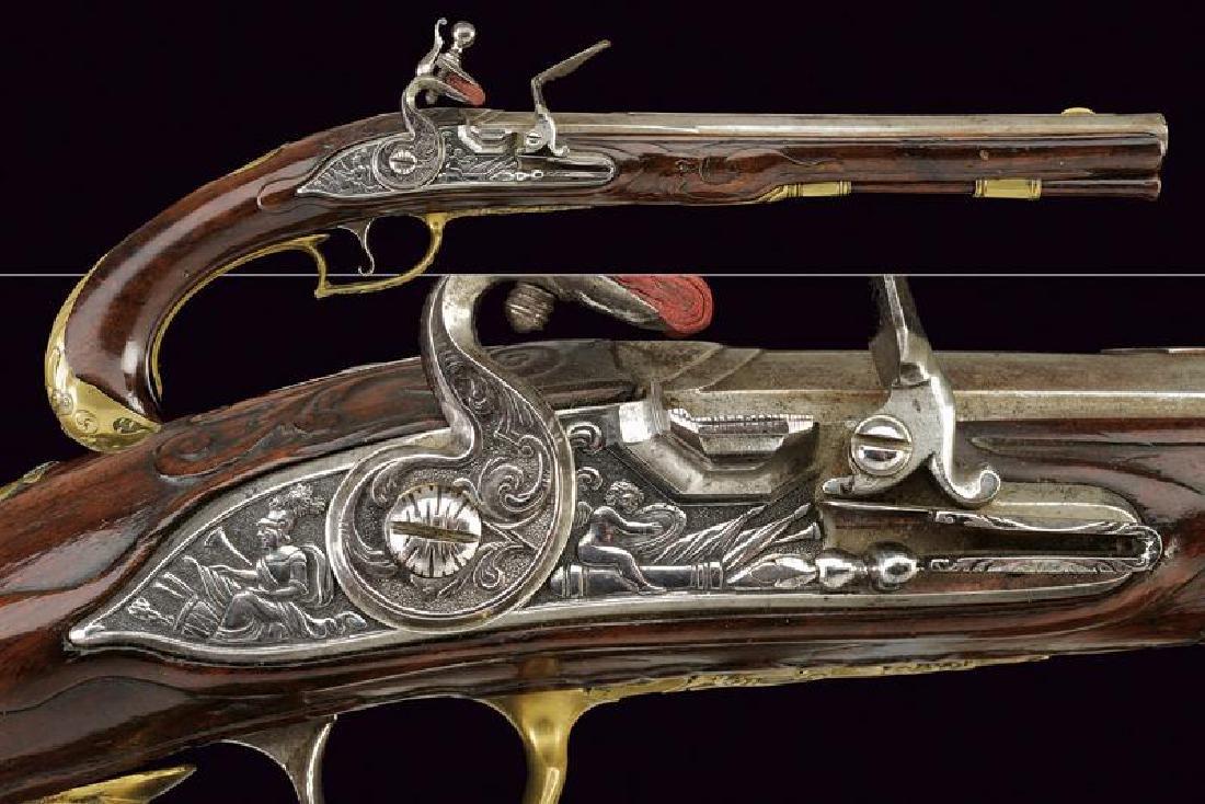 A beautiful flintlock pistol by Georg Zoffel of nobile