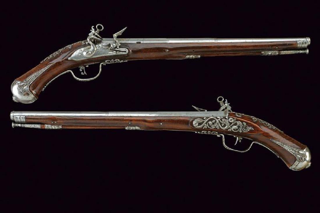 A fine pair of flintlock pistols