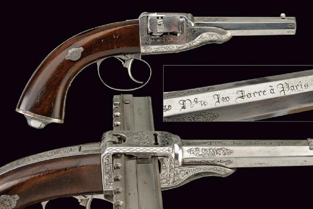 A very scarce second type Jarre pistol