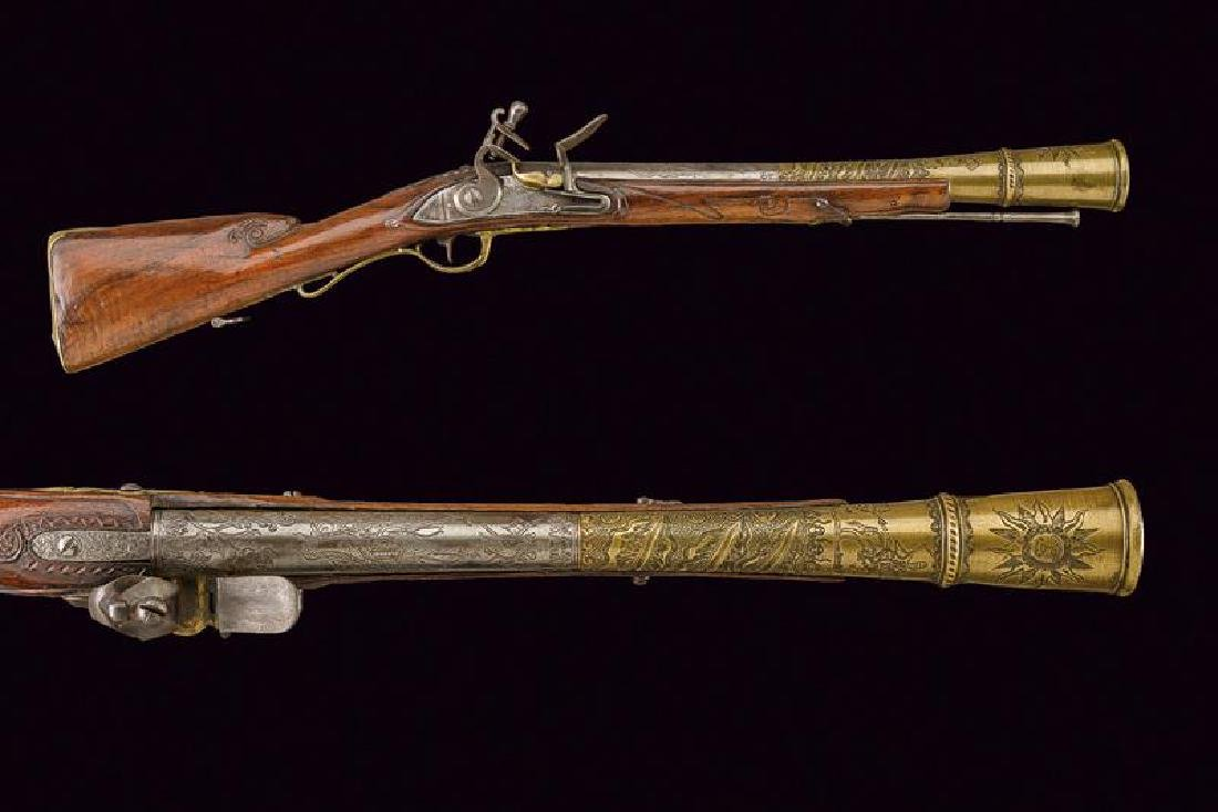 A rare and interesting flintlock blunderbuss
