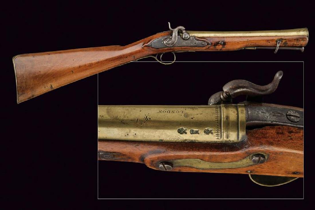 A navy percussion blunderbuss by J&W Richards
