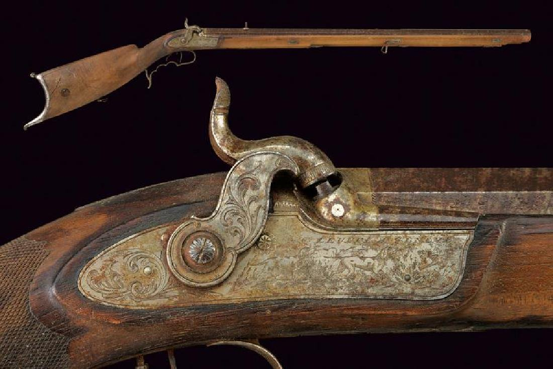 A percussion target rifle by Leuppi
