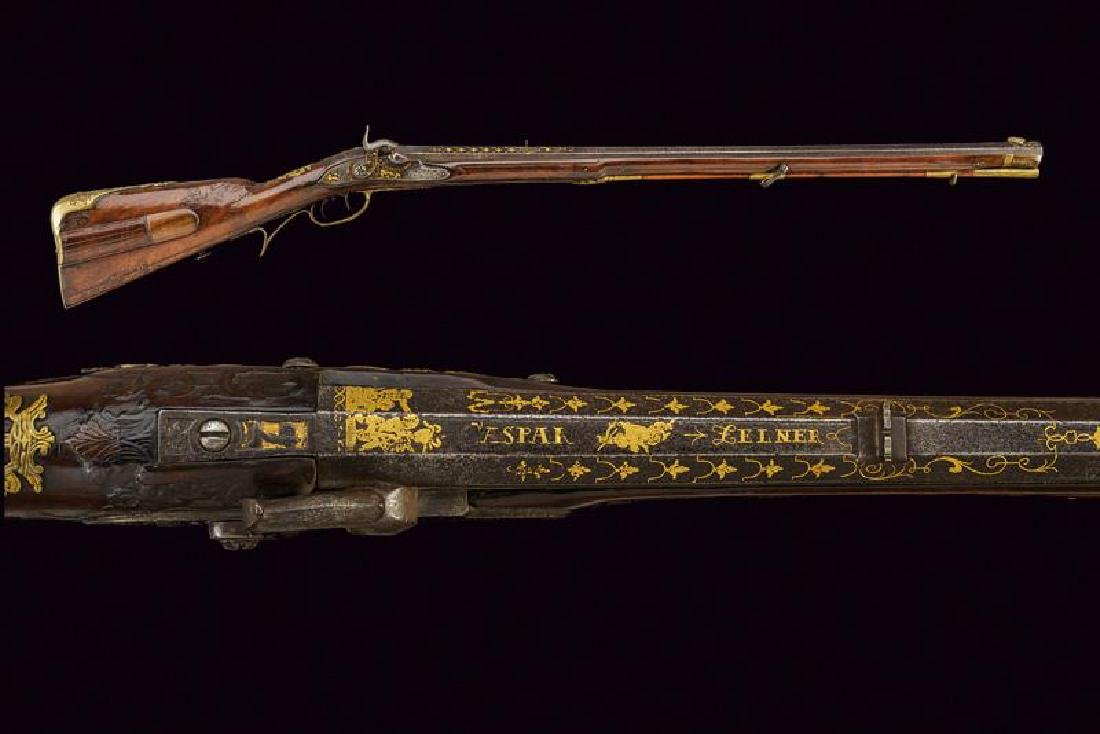 An interesting to percussion converted rifle by Caspar