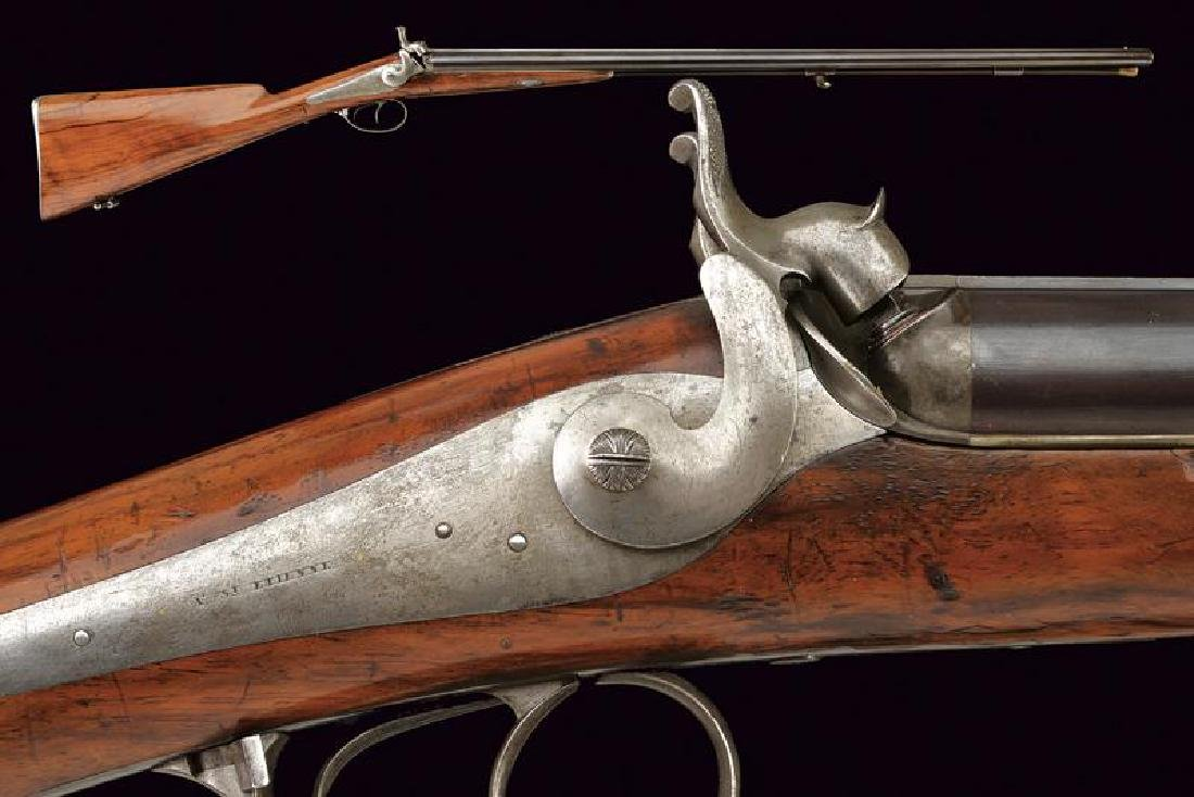 A double barrelled shotgun by Brunel