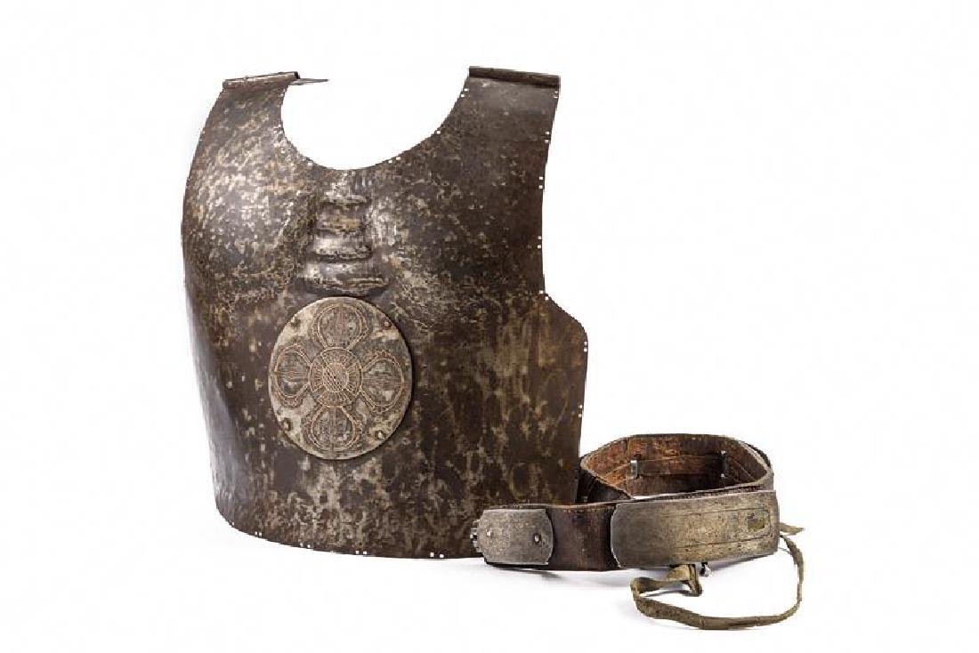 A breast plate and belt