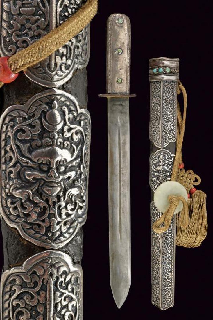 A rare and fine silver mounted dagger