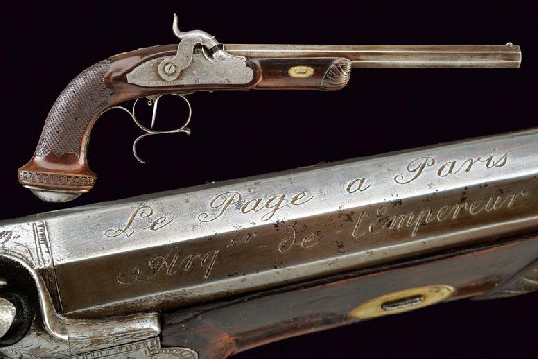 A percussion target pistol by Le Page