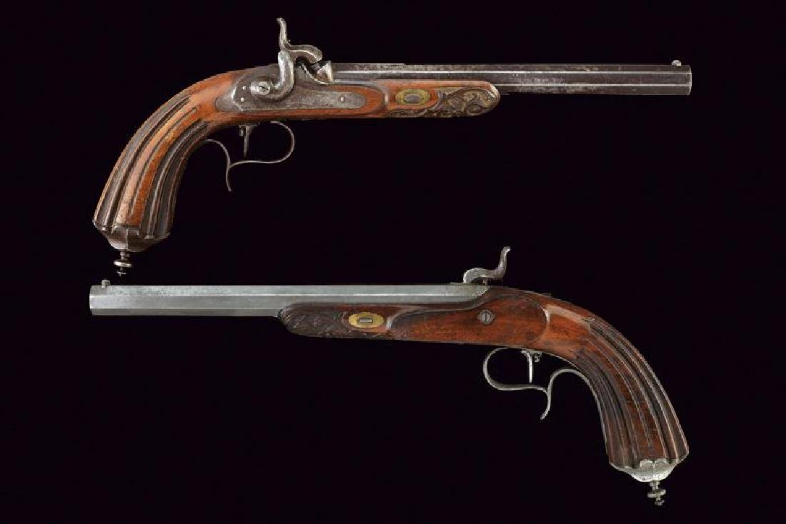A pair of percussion target pistols by Goth e Froelich