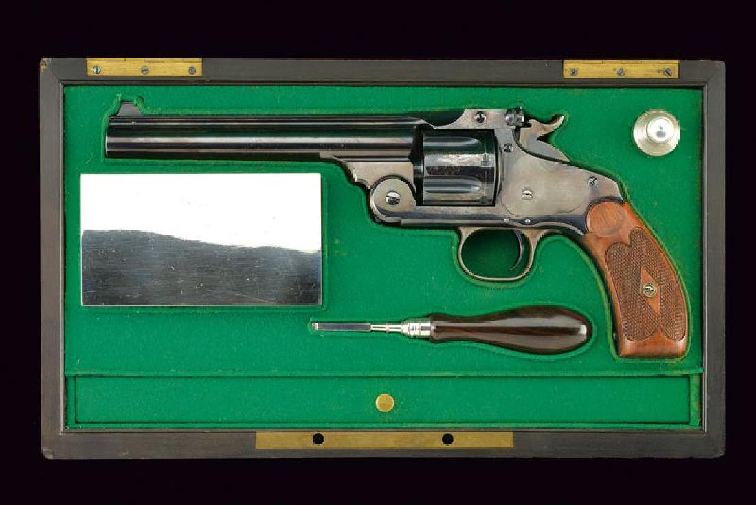A cased S&W New Model No. 3 Single Action Revolver