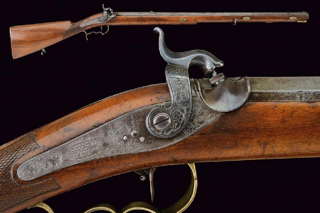 A percussion target rifle by Colombo