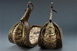 A magnificent pair of stirrups (abumi)