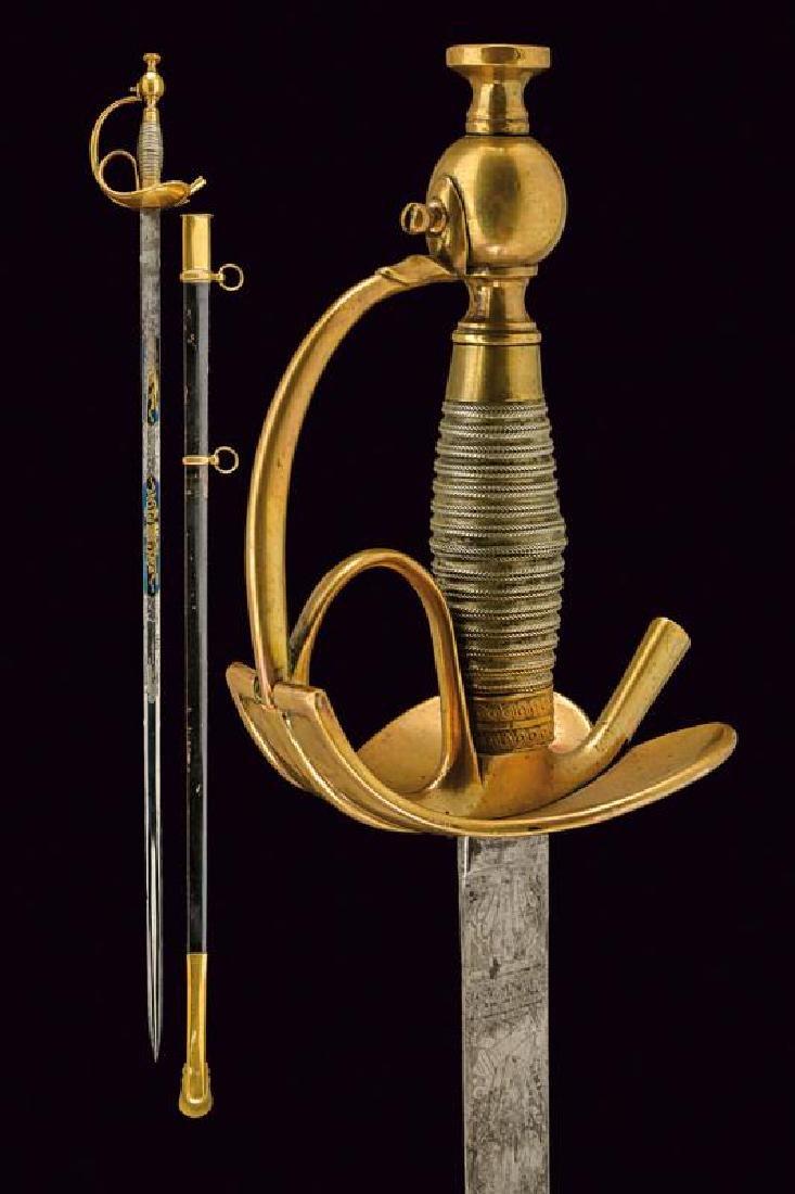 An 1833 model 'Albertina' officer's sabre