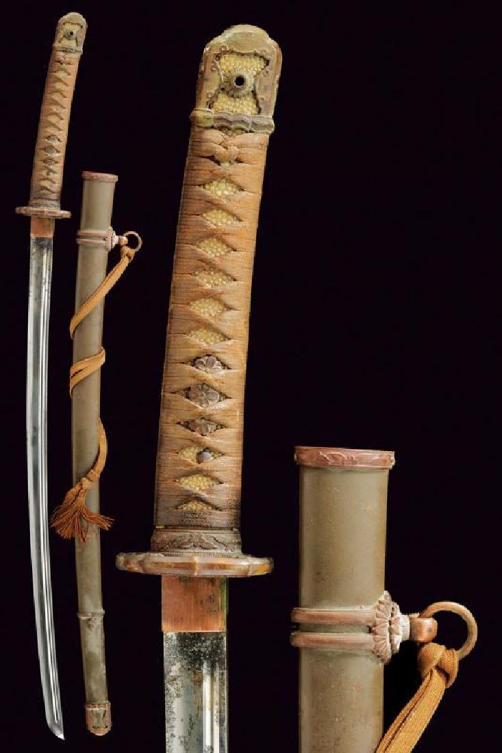 An 1894/98 model shin gunto officer's katana