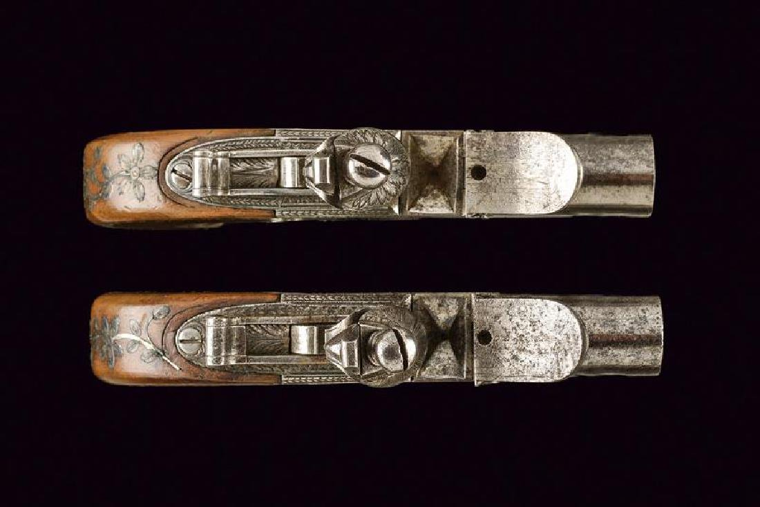 A pair of flintlock pocket pistols from the manufacture - 4