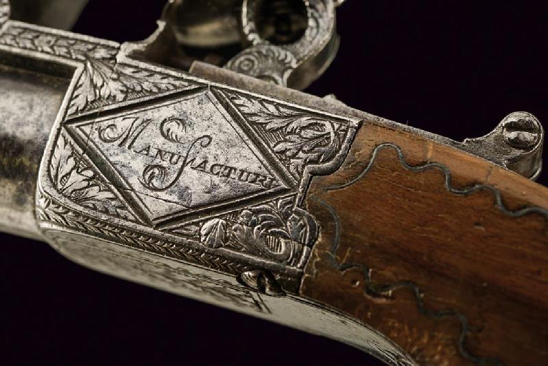 A pair of flintlock pocket pistols from the manufacture - 5