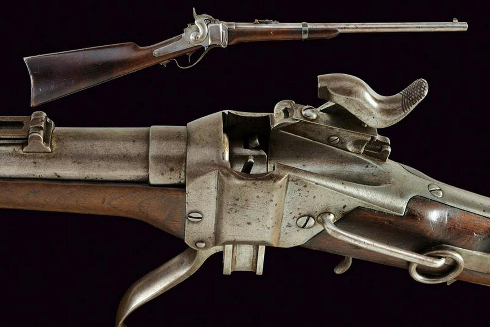 A Sharps New Model 1859 Carbine, metallic cartridge