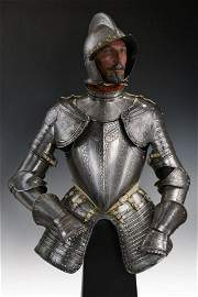 A beautiful half armour in Pisan style with important
