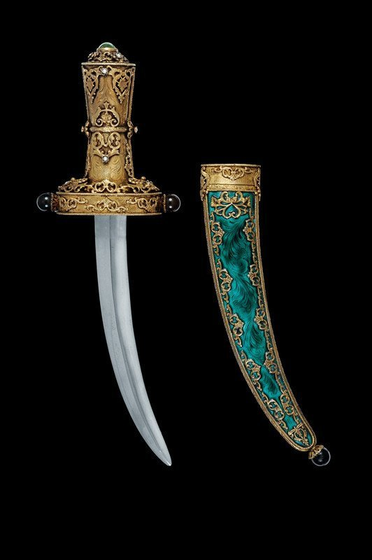 2: A beautiful dagger with vermeil mounts
