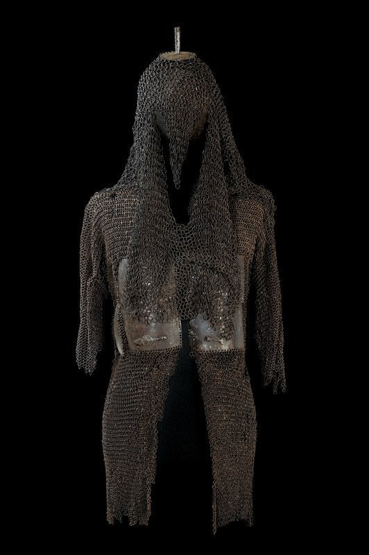 11: A rare mail-shirt armour with a top