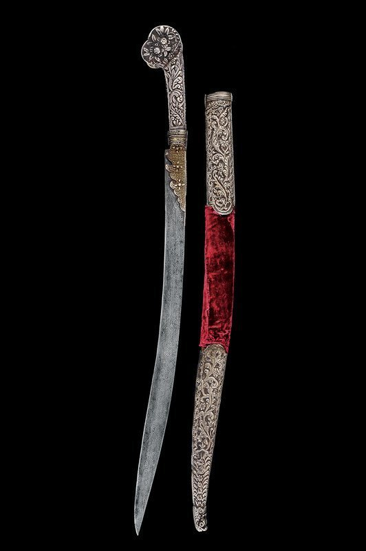 23: A silver mounted yatagan