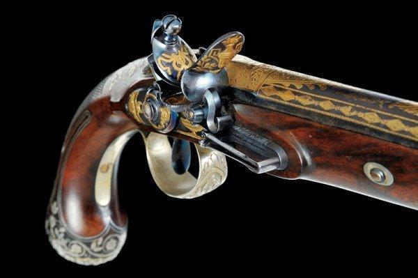 144: A pair of flintlock presentation pistols by Boutet - 6