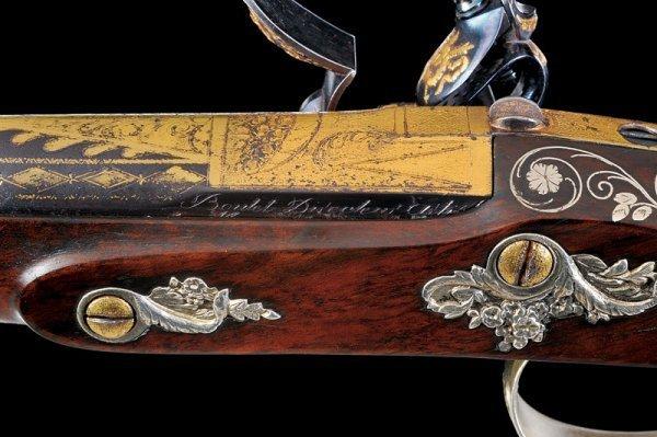 144: A pair of flintlock presentation pistols by Boutet - 7