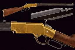 A rare Brass Frame Henry Rifle