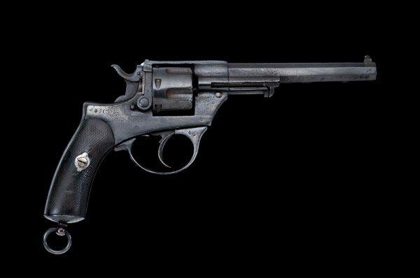 1308: A 1874 model Glisenti military revolver