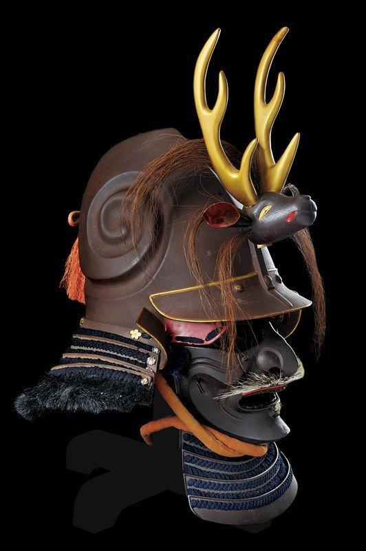 1346: A kawari kabuto with menpo and maedate