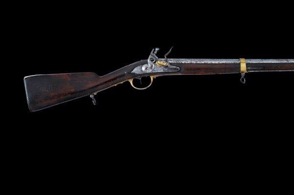 6: A 1786 model flintlock navy musket