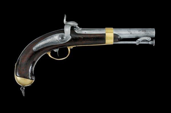 13: A 1837 model percussion pistol