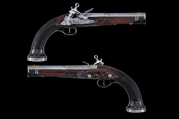 16: A fine pair of flintlock pistols