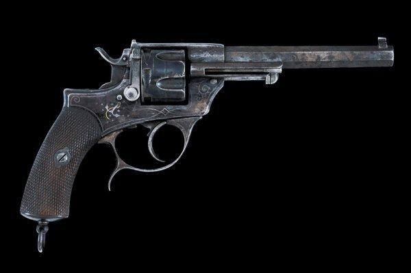 18: An 1874 model navy center-fire revolver