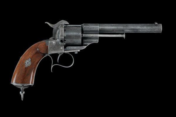 19: A 1858 model navy pin-fire revolver